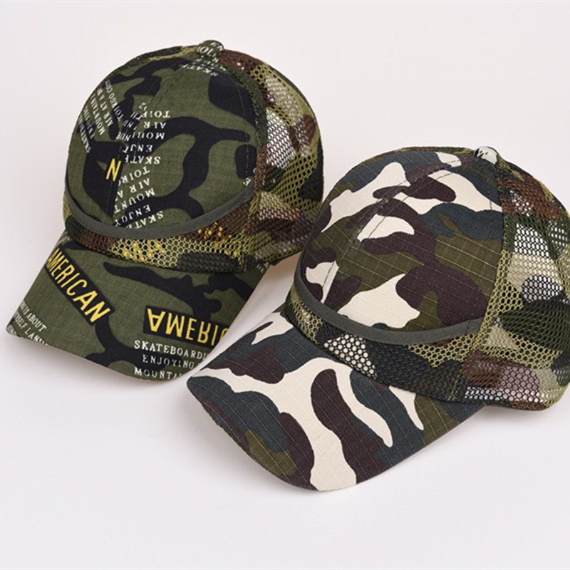 ALLKPOPER 2018 Children Cap Army Color Camouflage baseball cap women Caps Hats for men Dad hat Hip hop Cat Sun hat Visor