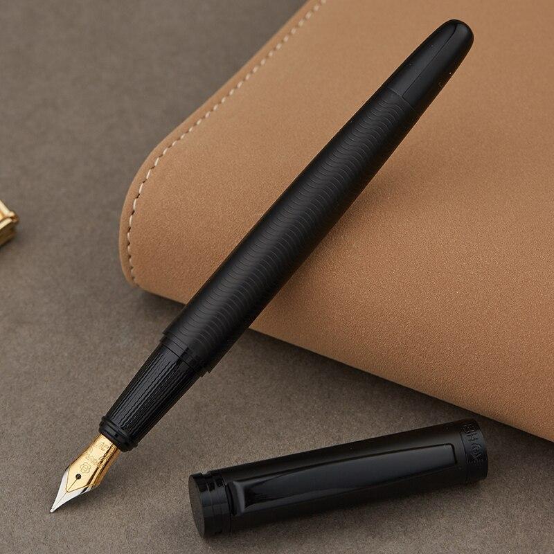 Full Metal Mat noir fil corps Iraurita fontaine stylo 0.5mm encre stylos D'affaires Bureau caneta tinteiro Papeterie Cadeau 1037