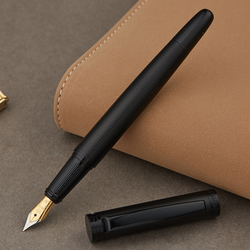 Full Metal Matte black thread body Iraurita fountain pen 0.5mm ink pens Business Office caneta tinteiro Stationery Gift 1037