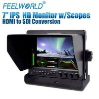 Feelworld 7 Алюминий Дизайн ips 1280x800 Камера поле монитор с волновой областей и HDMI преобразован в SDI выход Z7