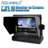 Feelworld 7 Aluminum Design IPS 1280x800 Camera Field Monitor with Waveform Scopes and HDMI Converted to SDI Output Z7