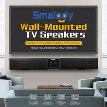 Smalody soundbar 20 w bluetooth alto falante 4400 mah baixo portátil subwoofer sem fio com controle remoto display lcd