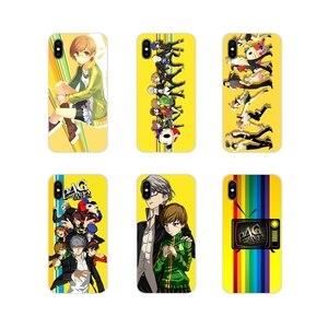 Прозрачный чехол из ТПУ для Apple iPhone X XR XS MAX 4 4S 5 5S 5C SE 6 6S 7 8 Plus ipod touch 5 6 cool game cartoon Persona 4