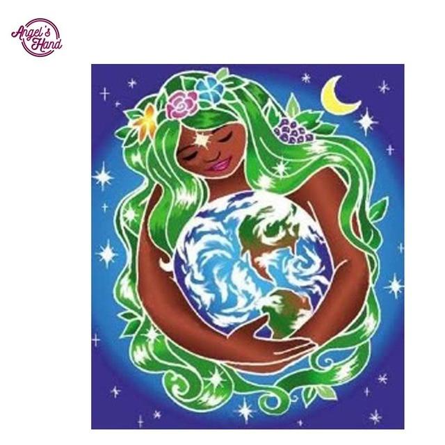 ANGEL S MANO Abbraccio La Terra New 3d Diy Diamante Dipinto Mosaico Cucito Ricamo Con