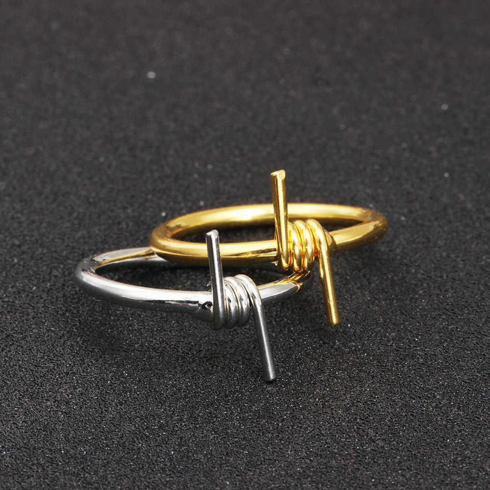Men Hip Hop Punk Ring Unisex Wire Winding Ring Metal Sliver Joint Ring for Women Rock Wholesale Jewelry Accessories