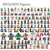8 шт. Legoing фигурки Marvel Super heros Ninjago Звездные войны модель строительные блоки Кирпич Complite с legoed игрушки для детей