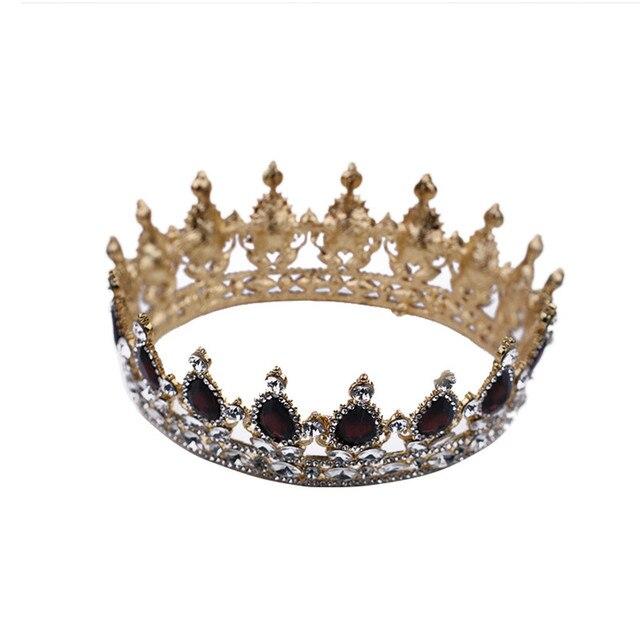 Clothes headwear Ladies Luxury Headband  Elegant Crown Full Diamond Purple Red Water Drops Zircon Ornaments hair wear