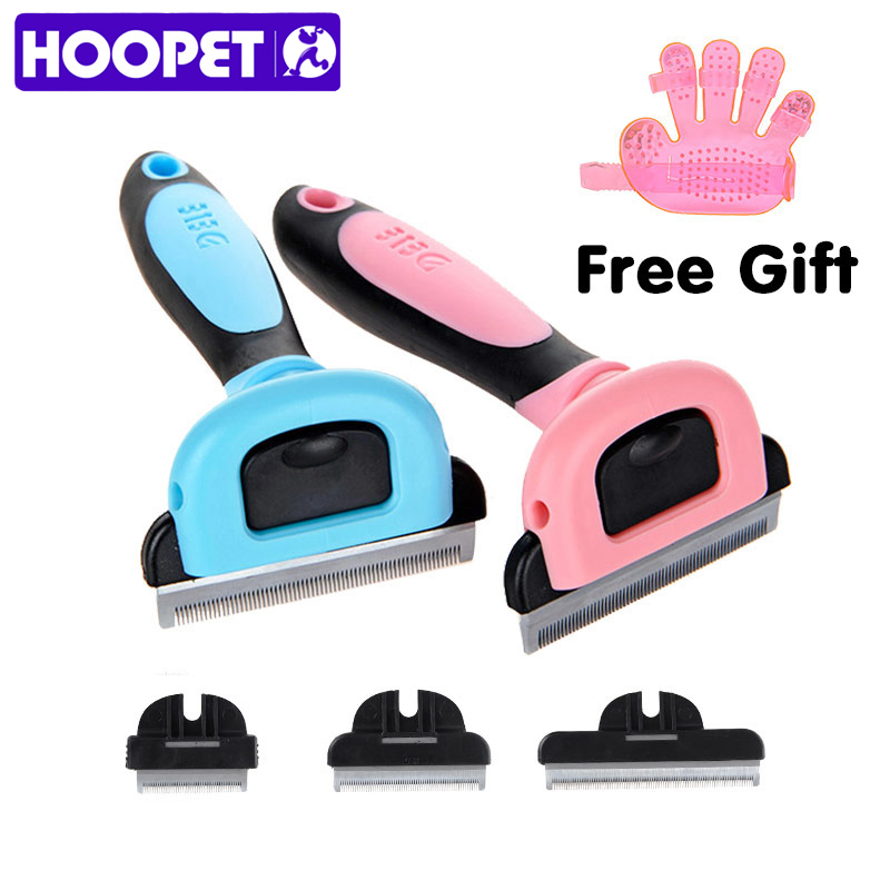 Hoopet Dog Hair Remover Cat Brush Grooming Tools Detachable Clipper Attachment Pet Trimmer Combs For Cat Pet Supply Furmins