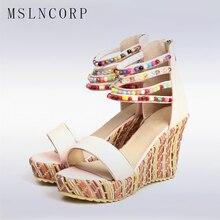 Plus size 34-43 Summer Fashion Woman Sandals Shoeshigh heels shoes wedges women sandals platform beach bohemian open-toed
