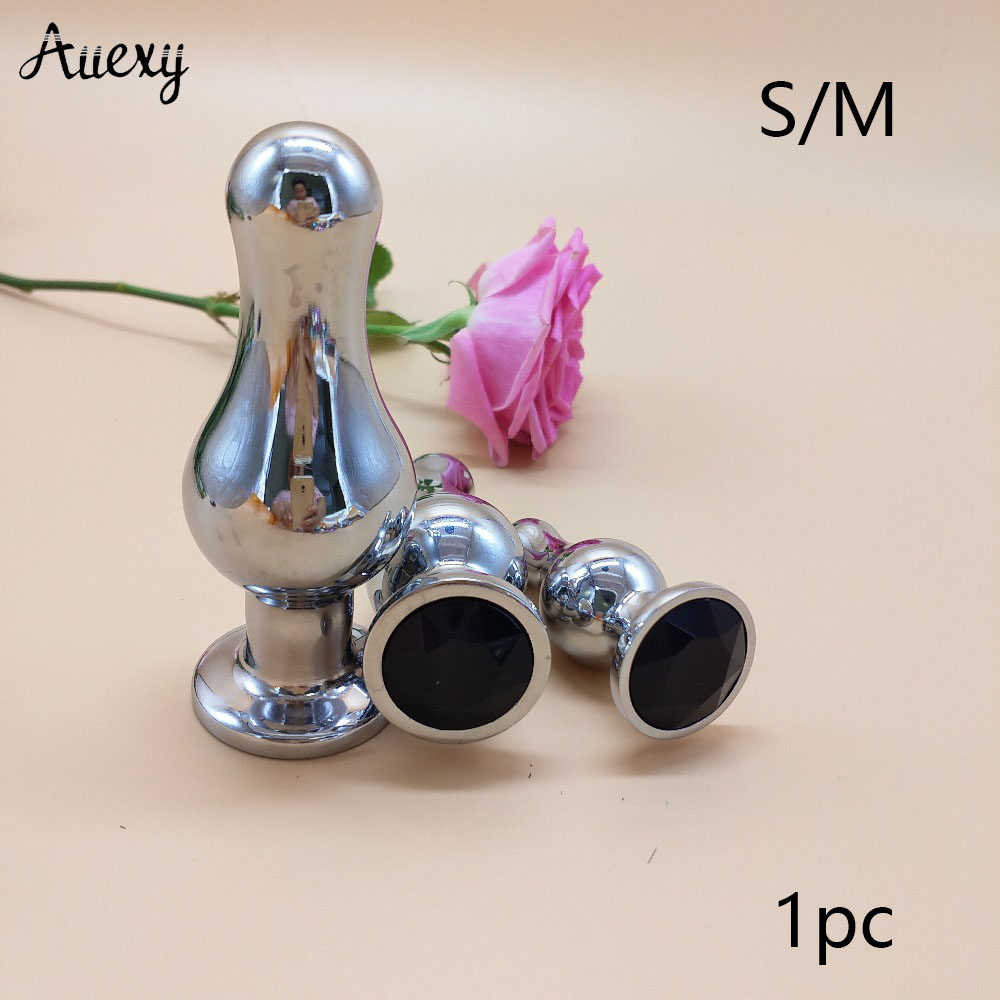 AUEXY Large Buttplug Stainless Steel Big Butt Plug Anale Bolas Anales Metal Analplug Erotic Tapon Anal Sex Toy For Woman Men Gay