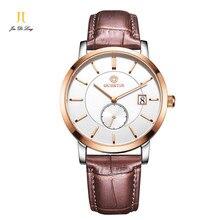 2016 новый кварцевые часы мужчины часы Краткий Наручные часы Случайный Просто Мода Топ Люксовый Бренд показывает Деловой человек Часы для мужчин