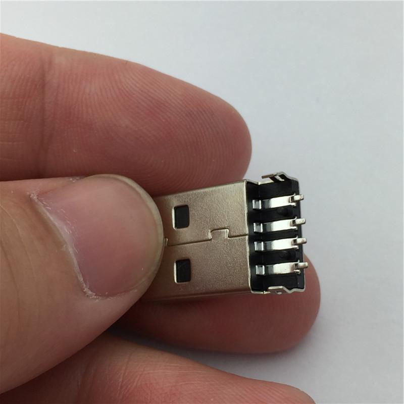 10 шт./лот 4-контактный порт USB 2.0 а тип штабелеукладчик СМТ разъем черный g49 для передачи данных зарядки бесплатная доставка