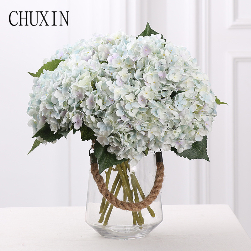 Us 3 43 10 Off Artificial Flowers For Decoration Silk Hydrangea Home Living Room Fake Flower Wedding Bride Hand Holding Bouquet In