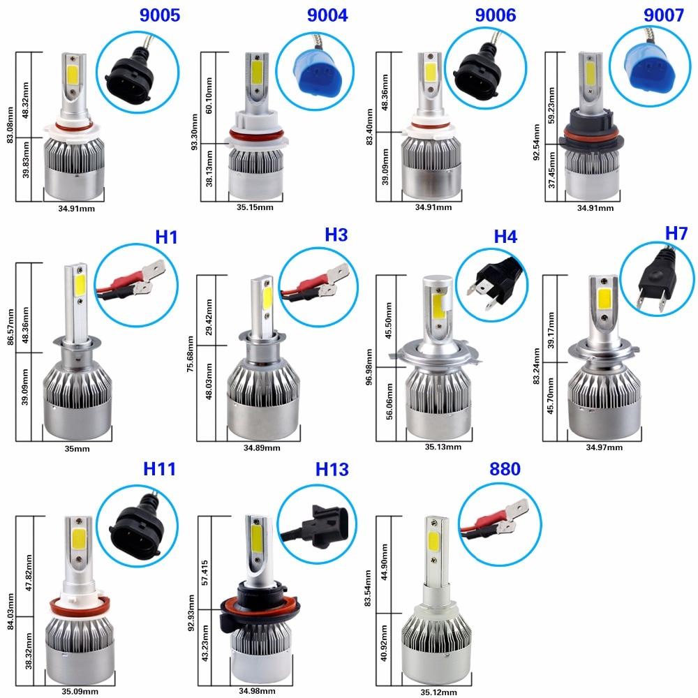 GEETANS H4 H7 H13 H11 H1 9005 9006 COB LED fənər 60W Avtomobil - Avtomobil işıqları - Fotoqrafiya 6
