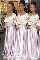 С длинным рукавом платье подружки невесты атласная платье подружки невесты дешево линии платье подружки невесты