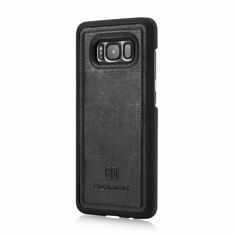 2 in 1 Flip For Samsung Galaxy S8 Case Cover Luxury Leather Wallet + Plastic Hard Magnetic Back Cover For Samsung S8 Phone Case