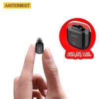 AMTERBEST Mini Bluetooth Earphone Wireless Ear Buds Headset Headphone Handsfree Invisible Earbuds Kulakl K For IPhone