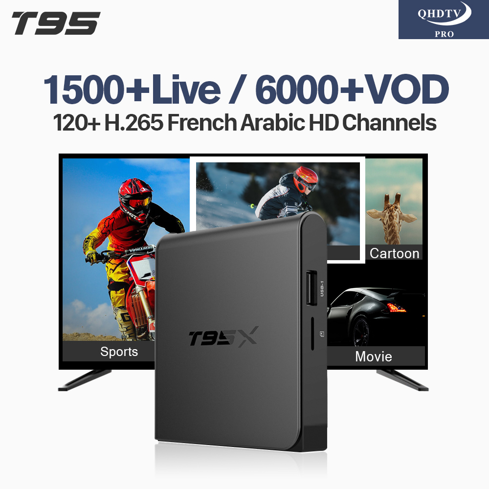IPTV Subscription 1 Year IPTV Code T95X Android Tv Box 4K H.265 Decoder Channels IPTV Wifi Arabic French Tunisia IP TV Box [zob] hagrid spn465r surge protection device 4 65ka t2 grade imported 3p n lightning surge