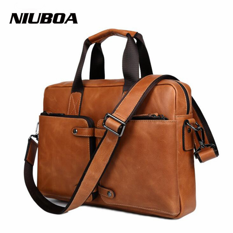 Luxury Genuine Leather Bag Casual 100% Skin Men Handbags Cowhide Men Crossbody Shoulder Bag Men's Travel Bags Laptop Briefcase все цены