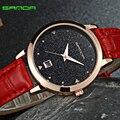 Sanda 2016 moda mujer reloj de pulsera de señoras de los relojes de marca de lujo famoso reloj de cuarzo mujer reloj relogio feminino montre femme