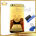 100% Warranty 24k Mirror gold Skull Chassis Housing for iphone 6 plus Back Cover Battery Door Limited Edition+Buttons+Tools