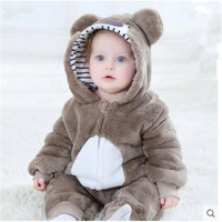 Baby autumn 0 1 2 years old baby clothes 3 autumn and winter clothes 4 bears 5 animals 6 hugs out 9 months onesies 2018 New