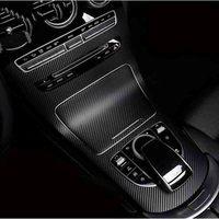 Car Control Center Carbon fiber stickers Car Accessories For Mercedes Benz GLC300 GLC250 GLC220D GLC250D X253