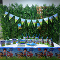 132pcs Flags Tablecloth Straws Cups Plates Puppy Patrol And Other Party Supplies Kids Birthday Party Supplies Decoration favors