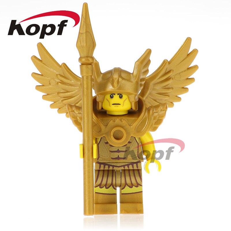 Single Sale Super Heroes Flying Warrior Statue of Liberty Medusa Chicken Suit Building Blocks Bricks DIY Toys for Kids PG1032