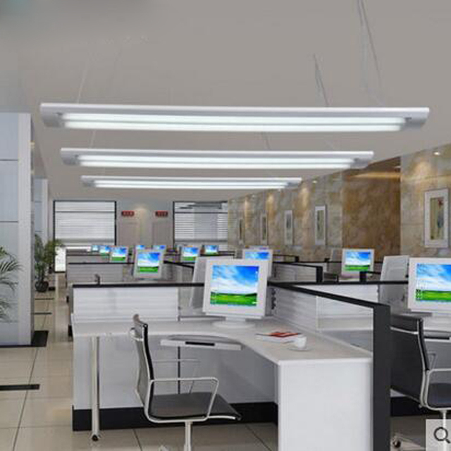 Led Fluorescent Lamp Full Set Of T8 Dual Stripe Bracket Hanging Use Office