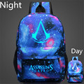 Large Capacity Lumious Assassins Creed Backpack Hot Game Animation Fashion School Bag For Teenagers Travel Backpack Sack Mochila