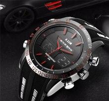Los hombres Relojes Famosa Marca de Lujo de Cuarzo Multifunción Reloj Digital Reloj LED Reloj Del Deporte Militar Del Ejército Masculino del relogio masculino