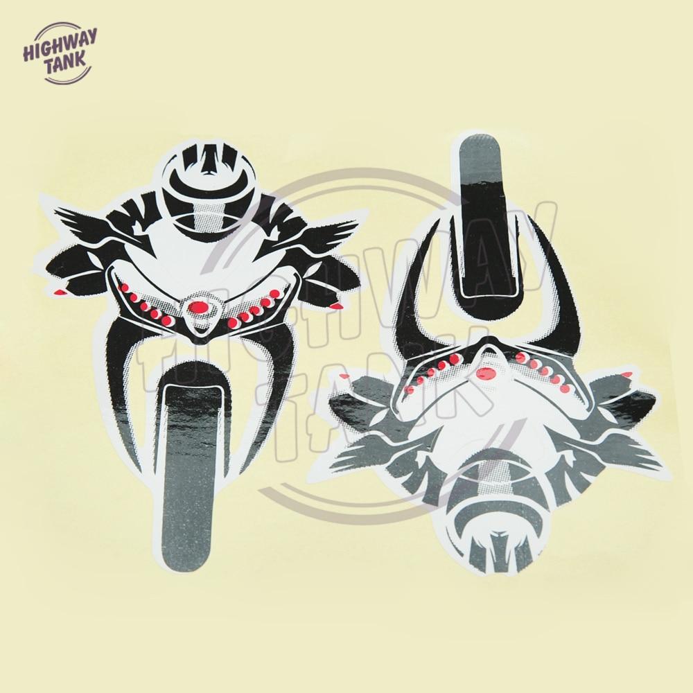 c45d5fd6b8 PVC patrones de personalidad moto rcycles etiqueta moto-styling Racing  insignia caso para Kawasaki Yamaha Honda zuduki envío libre