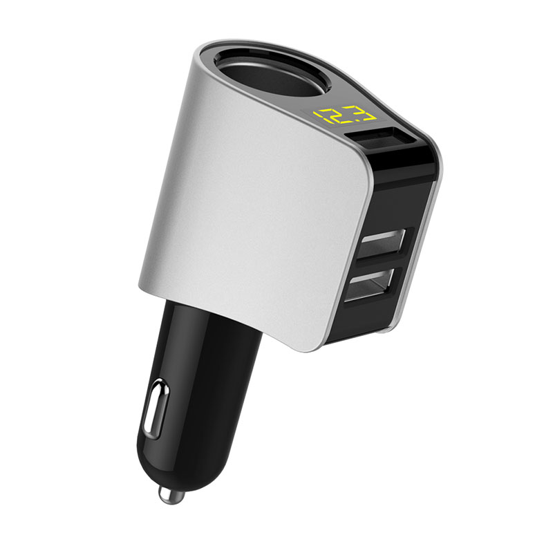 USB Car Charger Extended Cigarette Lighter Power Connector LED for Ford mondeo kuga fiesta Focus2 3 ecosport fusion ranger mk4