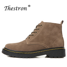 Thestron New Arrival Working Boots Women Fashion Leather Ankle Autumn Winter Luxury Brand Shoes Snow