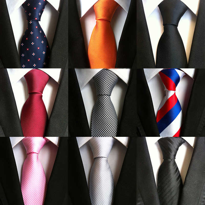 8 ซม. สีแดงเนคไทสำหรับผู้ชายงานแต่งงานสีทึบคอกว้าง Ties ธุรกิจแฟชั่นชุด Gravatas สีเขียวสีส้มสีเหลือง