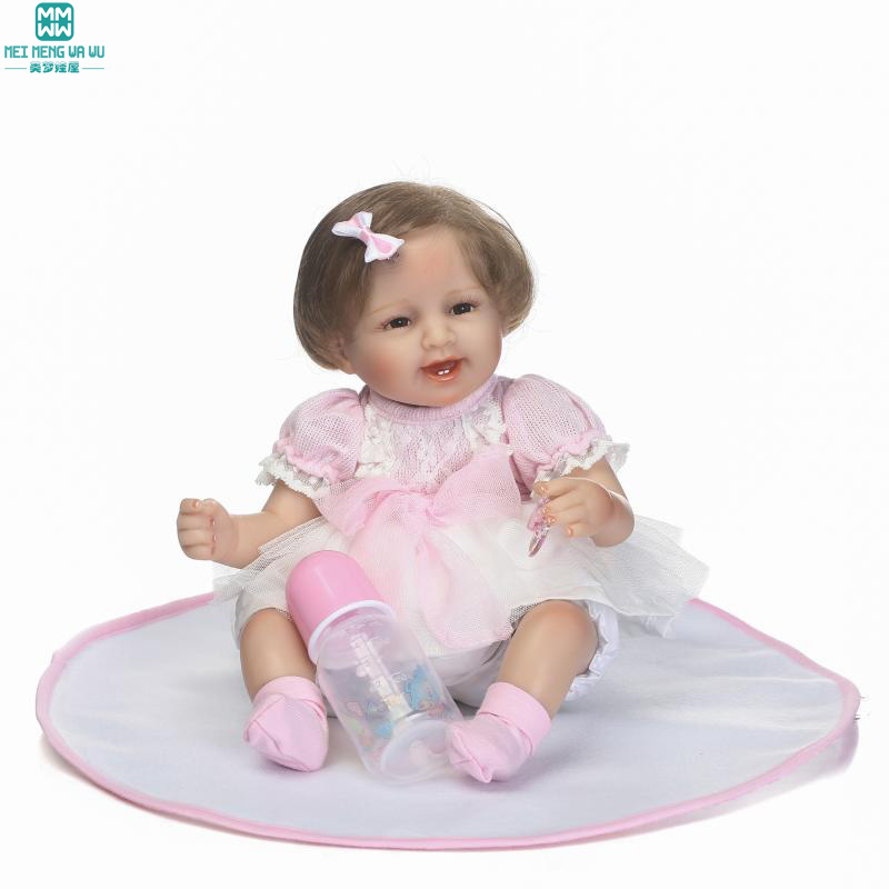 40cm Silica gel baby doll baby born dolls/baby Limbs activity for Child's birthday gifts damask silica gel mold