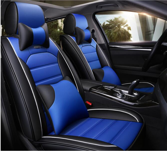 Black Blue Leather Car Seat Covers For Daihatsu Terios 2006-2010