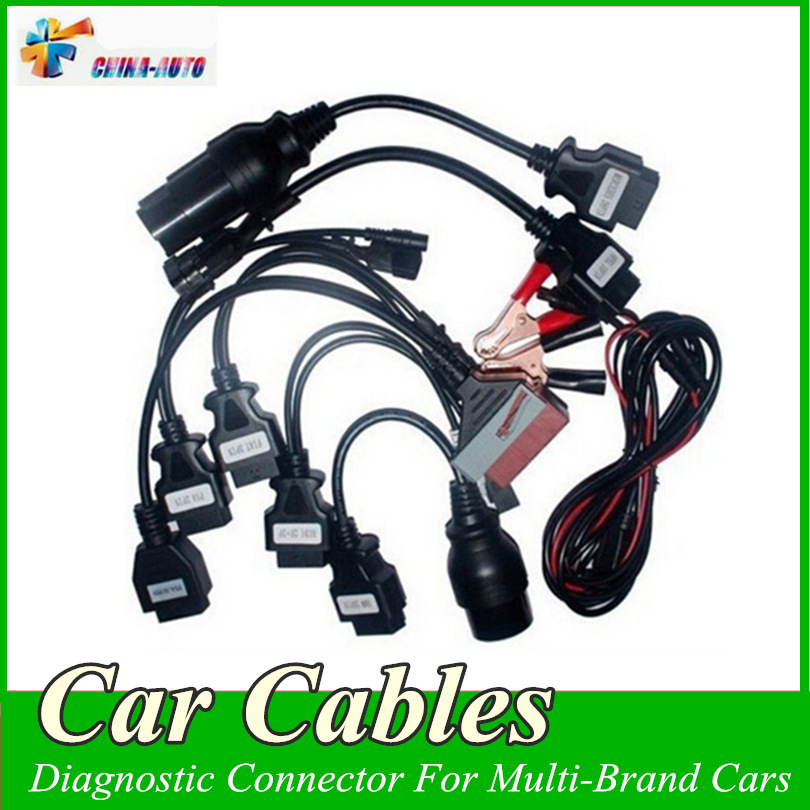 20pcs lot Full Set 8 Car Cables OBD OBDII Diagnostic Connector For Multi Brand Cars Auto