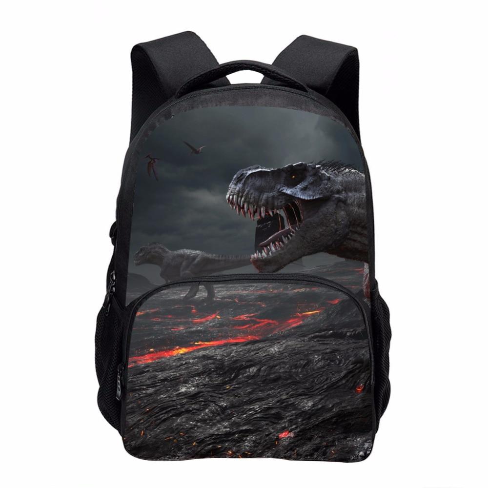 Cool Dinosaur Print School Backpacks for Children Men 3D Large Animal Casual Travel Laptop Backbag Teenager Double shoulder bag dinosaur print makeup bag