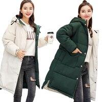 MANDADI winter jacket women 2018 cotton padded thick warm hooded long coat women parka outwear female Both Two Sides Can Be Wear