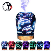 100ml Aroma Essential Oil Diffuser Aromatherapy Diffuser With LED Lamp 3D Sea Dolphin Air Humidifier Mist