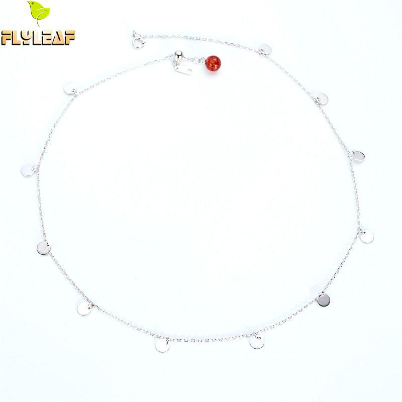 Flyleaf 100% 925 Sterling Silver Strawberry Crystal Round Sequins Choker Necklace For Women Minimalism Lady Fashion JewelryFlyleaf 100% 925 Sterling Silver Strawberry Crystal Round Sequins Choker Necklace For Women Minimalism Lady Fashion Jewelry
