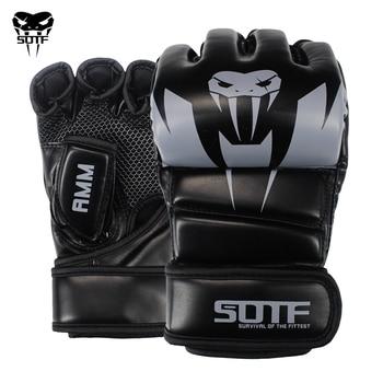 SOTF Adults MMA Venomous snake Multicolor Boxing gloves MMA Tiger Muay Thai gloves muay thai
