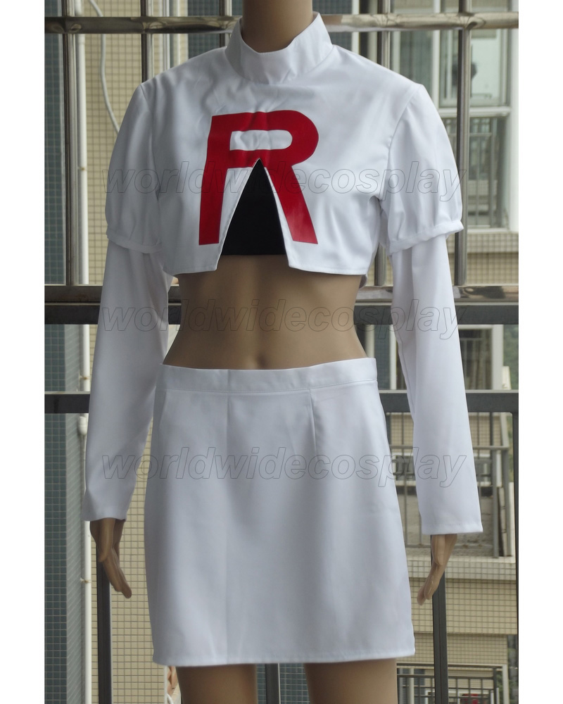 Pokemon Team Rocket Jessie Cosplay Costume Free Shipping for Halloween and Christmas