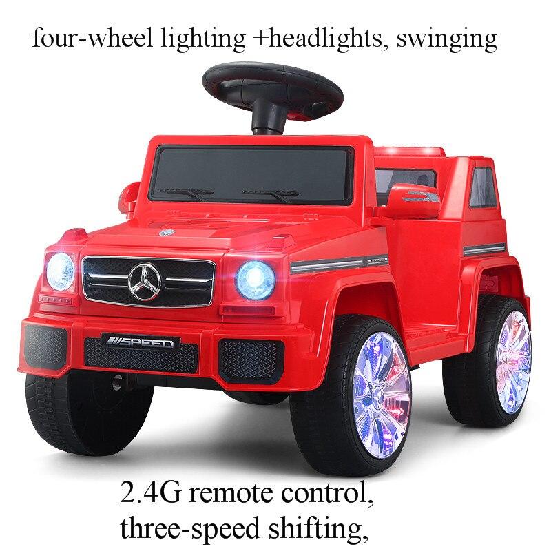 Crianças elétricas passeio em carros veículos de controle remoto 3 anos de idade bebê melhor presente brinquedos carro com quatro rodas pode dirigir