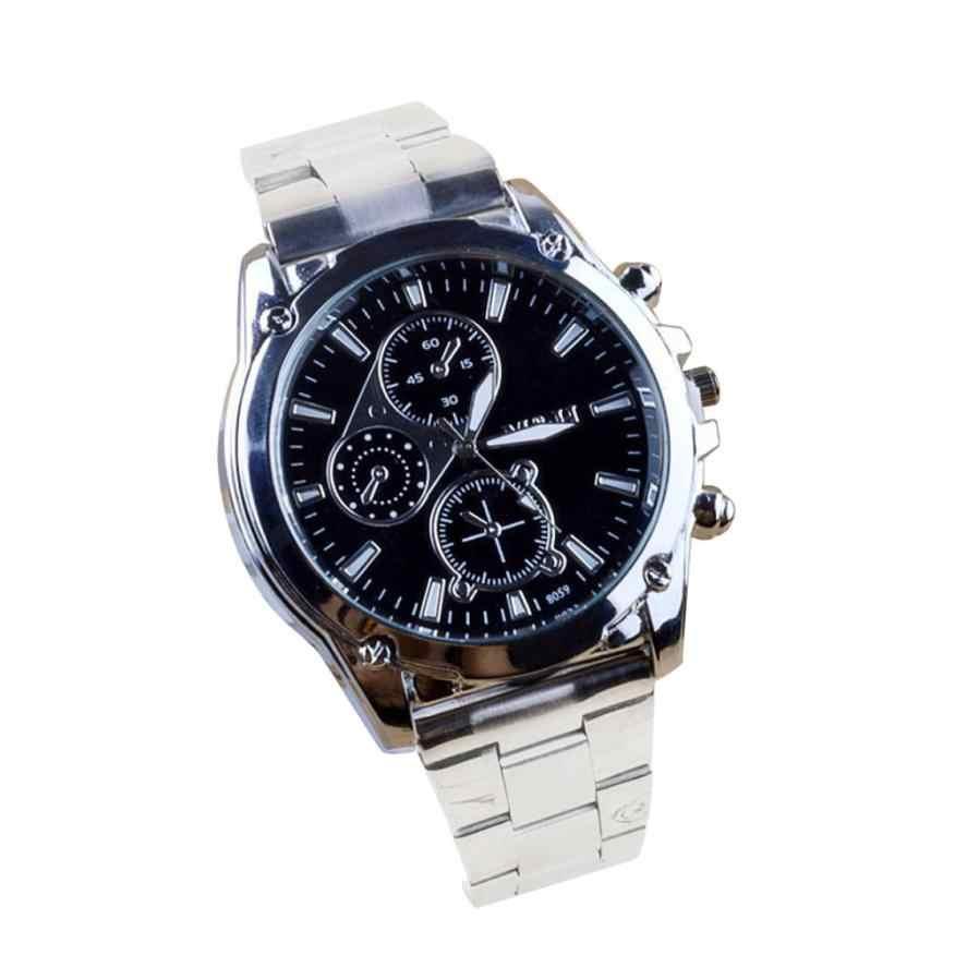 メンズ腕時計 1 ピースビジネスについてステンレス鋼バンド機械スポーツクォーツ腕時計ドロップシッピング 2018JUL9
