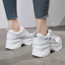 High Heels Platform Sneakers Women Casual Shoes White Chunky 2019 Spring Woman vulcanized zapatos mujer