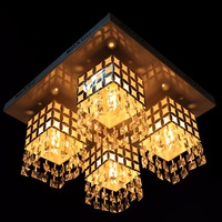 Ship From EU Glass Crystal Chandelier Pendant 4 Light Chic French Provincial Ceiling Lamp