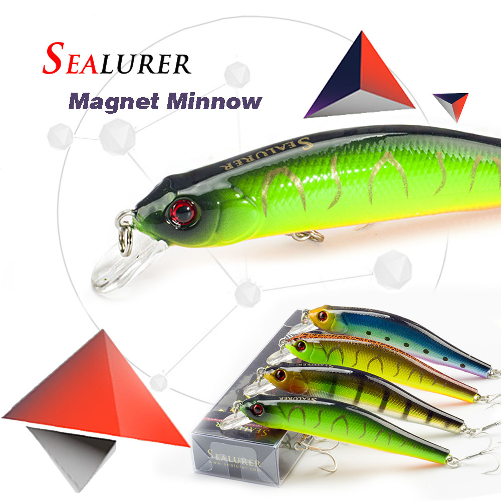 Wobblers Crankbait 10cm 11.7g,magnet System 6# Hooks 3d Eyes Hard Baits Hot Model In Short Supply Sealurer Fishing Lures Sinking Minnow